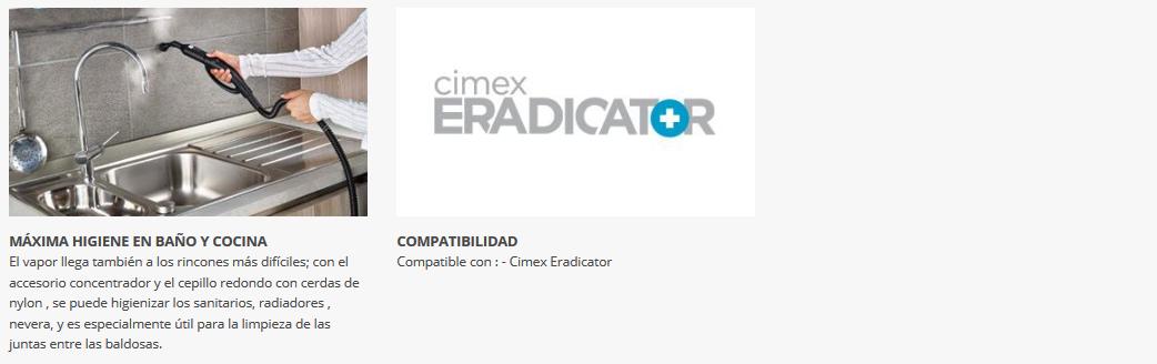 Polti Kit Completo de Accesorios Compatibles con Cimex Eradicator